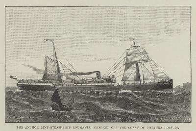 The Anchor Line Steam-Ship Roumania, Wrecked Off the Coast of Portugal, 27 October--Giclee Print