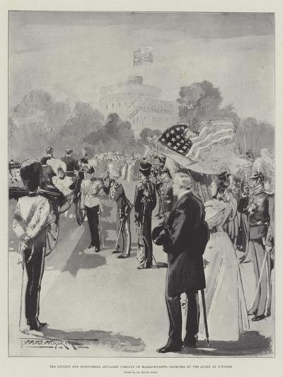 The Ancient and Honourable Artillery Company of Massachusetts Inspected by the Queen at Windsor-Thomas Walter Wilson-Giclee Print