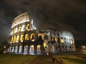 The Ancient Colosseum is Lit up for the Occasion of the Day for the Abolition of the Death Penalty