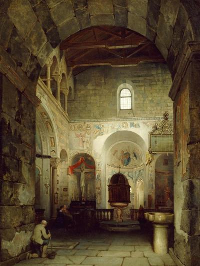 The Ancient Gravedona Baptistery, 1857-Luigi Bisi-Giclee Print