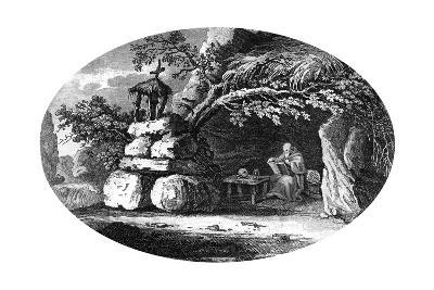 The Ancient Hermits, C19th Century--Giclee Print