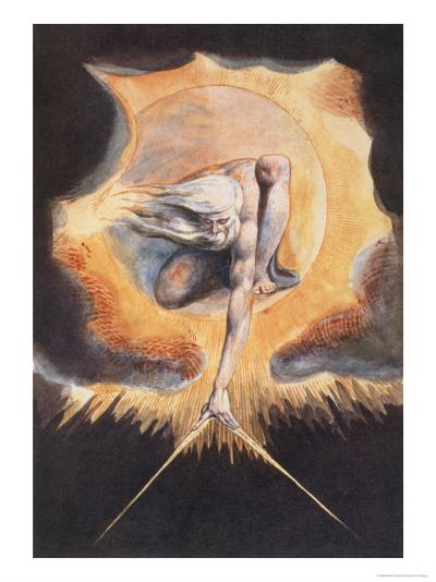 The Ancient of Days, from 'Europe a Prophecy', 1793-William Blake-Giclee Print