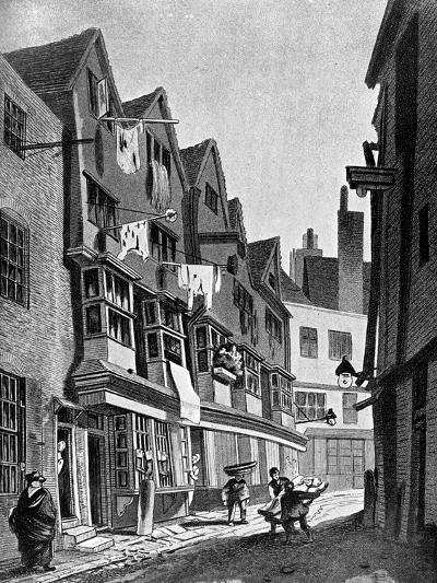 The Ancient Precincts of the Palace of Westminster, London, 1807-JT Smith-Giclee Print