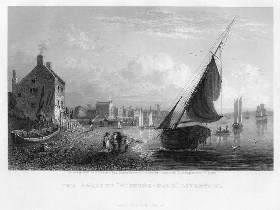 The Ancient 'Wishing-Gate, Liverpool, 1833-W Floyd-Giclee Print