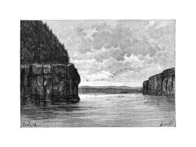 The Angara River, Below the Padunskiy Rapids, Siberia, Russia, 1895-Charles Barbant-Giclee Print