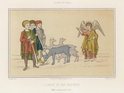 The Angel and the Shepherds--Giclee Print