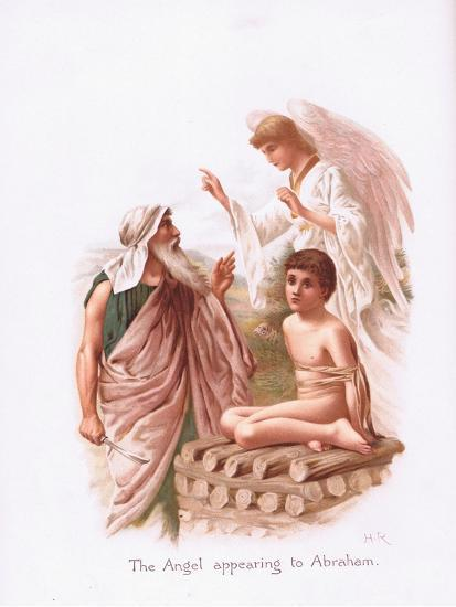 The Angel Appearing to Abraham-Henry Ryland-Giclee Print