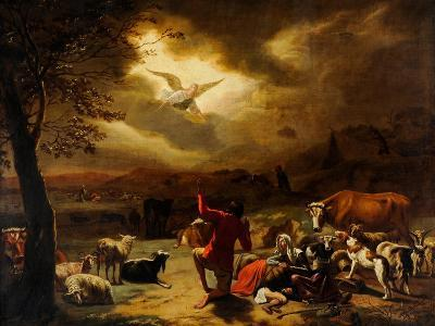 The Angel Appearing to the Shepherds--Giclee Print
