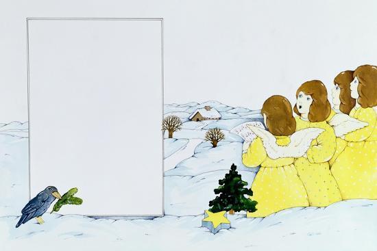 The Angel Carol Singers-Christian Kaempf-Giclee Print