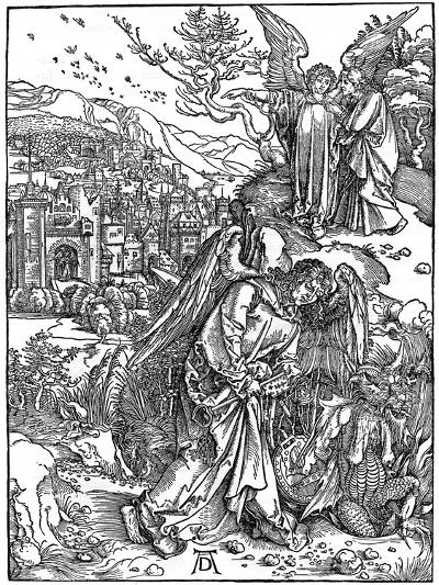 The Angel Holding the Keys of the Abyss, 1498-Albrecht Durer-Giclee Print