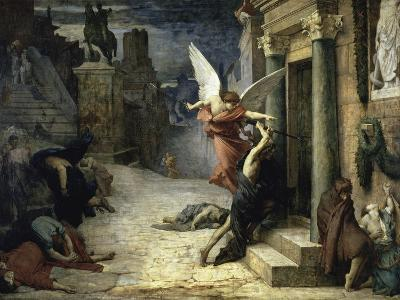 The Angel of Death; Peste a Roma-Jules Elie Delaunay-Giclee Print