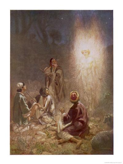 The Angel of the Lord Announces the Arrival of Jesus to the Shepherds-William Hole-Giclee Print