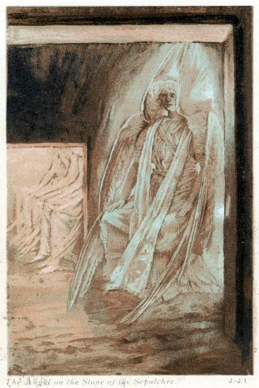 The Angel of the Lord on the Stone of the Sepulchre, 1897-James Jacques Joseph Tissot-Giclee Print