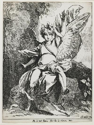 The Angel of the Resurrection , from Specimens of Polyautography, 1801 (Published 1803)-Benjamin West-Giclee Print