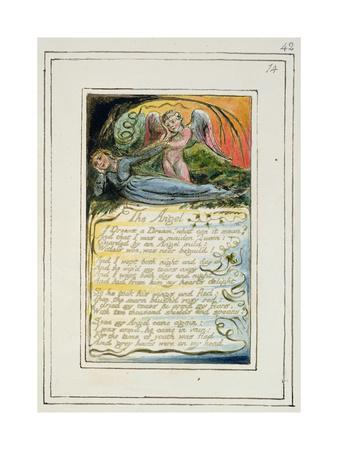 The Angel: Plate 42 from 'Songs of Innocence and of Experience', C.1802-08-William Blake-Giclee Print
