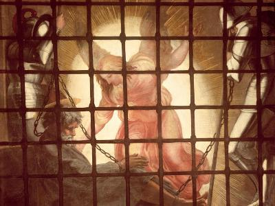 The Angel Wakes St Peter, from 'The Liberation of St Peter' in the Stanza D'Eliodoro, 1512-14-Raphael-Giclee Print