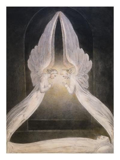 The Angels Hovering Over the Body of Jesus in the Sepulchre-William Blake-Giclee Print