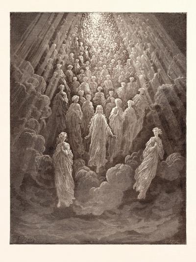 The Angels in the Planet Mercury-Gustave Dore-Giclee Print
