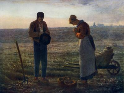 The Angelus, 1857-1859-Jean Francois Millet-Giclee Print
