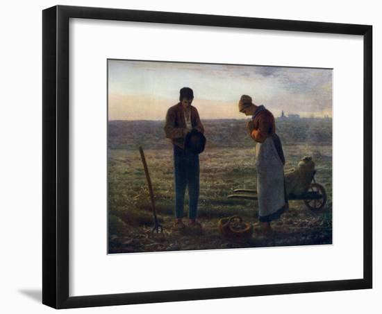 The Angelus, 1857-1859-Jean Francois Millet-Framed Giclee Print