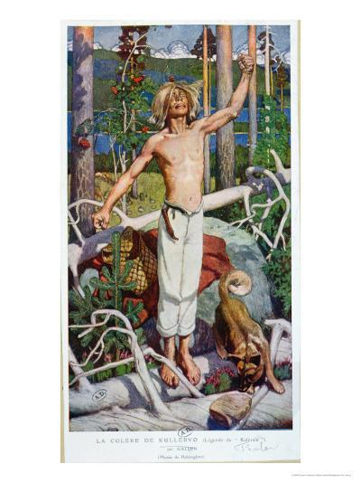 "The Anger of Kallervo, from ""Kalevala""-Akseli Valdemar Gallen-kallela-Giclee Print"