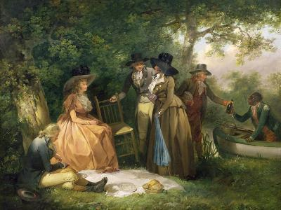 The Angler's Repast-George Morland-Giclee Print
