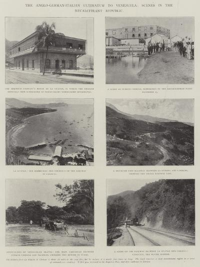 The Anglo-German-Italian Ultimatum to Venezuela, Scenes in the Recalcitrant Republic--Giclee Print
