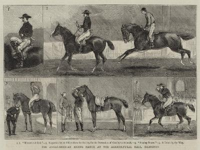 The Anglo-Mexican Riding Match at the Agricultural Hall, Islington-Alfred Chantrey Corbould-Giclee Print