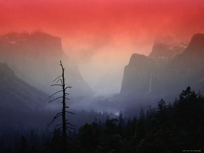 The Angular Beauty of the Yosemite Valley Is Awash with Natural Pastel Light Tones-Thomas Winz-Photographic Print