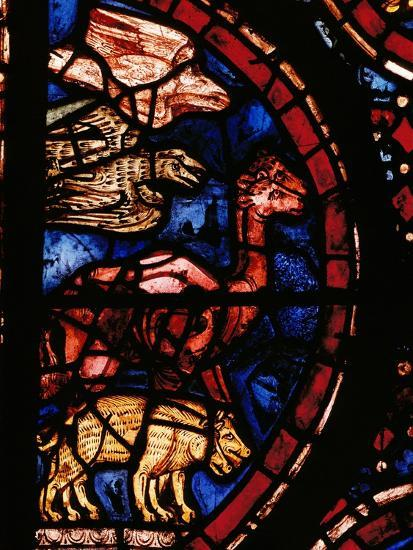 The Animals Boarding Noah's Ark, from the Noah-Window, 13th circa Stained Glass--Giclee Print