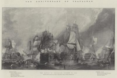 The Anniversary of Trafalgar, the Battle of Trafalgar, 21 October 1805
