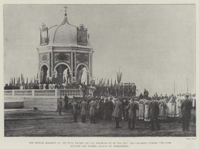 The Annual Blessing of the Neva Waters on the Breaking-Up of the Ice--Giclee Print