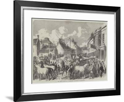 The Annual Horse Fair at Horncastle, Lincolnshire--Framed Giclee Print
