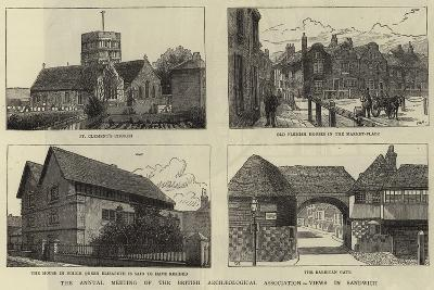 The Annual Meeting of the British Archaeological Association, Views in Sandwich--Giclee Print