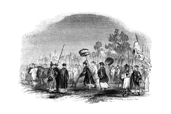 The Annual Spring Festival, 1847-Evans-Giclee Print