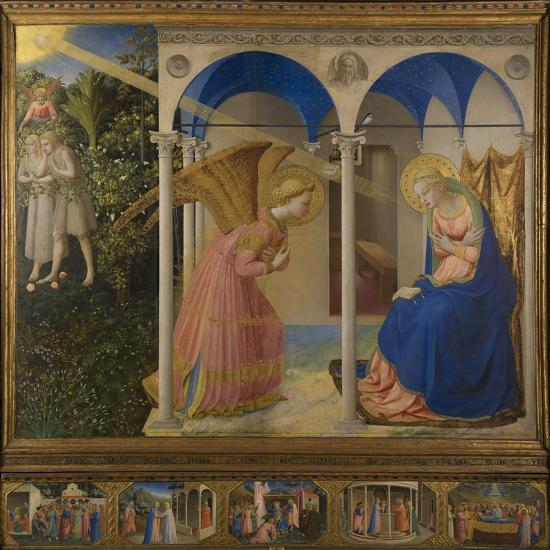 The Annunciation, 1425-8-Fra Angelico-Giclee Print