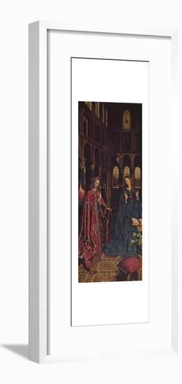 'The Annunciation', 1434-1436-Jan van Eyck-Framed Art Print