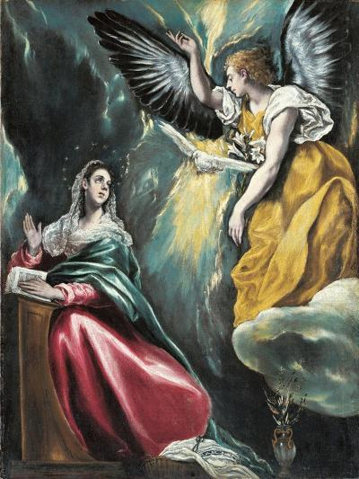 The Annunciation, 1595-1600-El Greco-Giclee Print