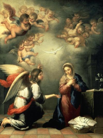 The Annunciation, 1655-65-Bartolom? Est?ban Murillo-Giclee Print
