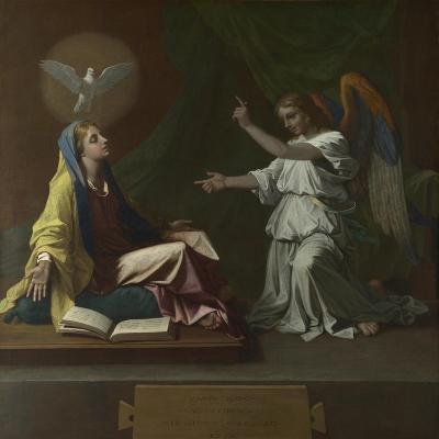 The Annunciation, 1657-Nicolas Poussin-Giclee Print