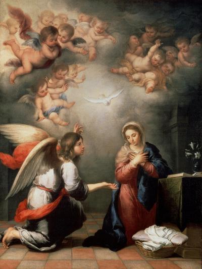 The Annunciation, 1660S-Bartolom? Esteban Murillo-Giclee Print