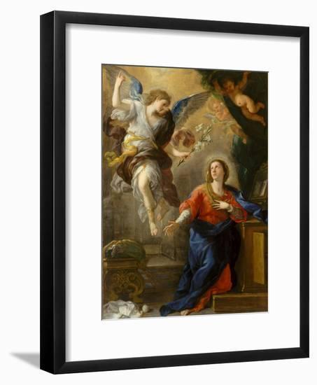 The Annunciation, 1672-Luca Giordano-Framed Giclee Print