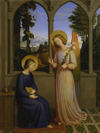 The Annunciation, 1828-Johann von Schraudolph-Giclee Print