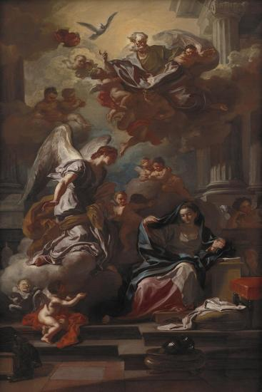 The Annunciation, after 1733-Francesco Solimena-Giclee Print