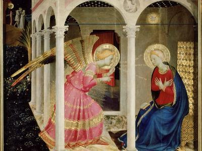 The Annunciation Altarpiece with Predella with Life and Death of Virgin Mary-Fra Angelico-Giclee Print