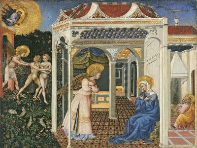 The Annunciation and Expulsion from Paradise, C. 1435-Giovanni di Paolo di Grazia-Giclee Print