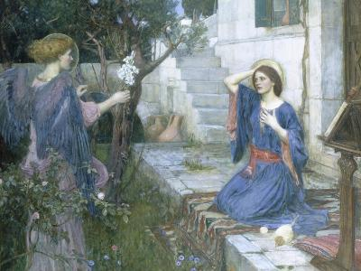The Annunciation, c.1914-John William Waterhouse-Giclee Print