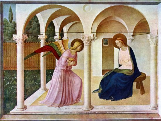 Image result for annunciation fra angelico