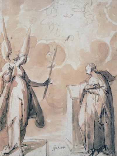The Annunciation, C1530-1577-Hans Speeckaert-Giclee Print