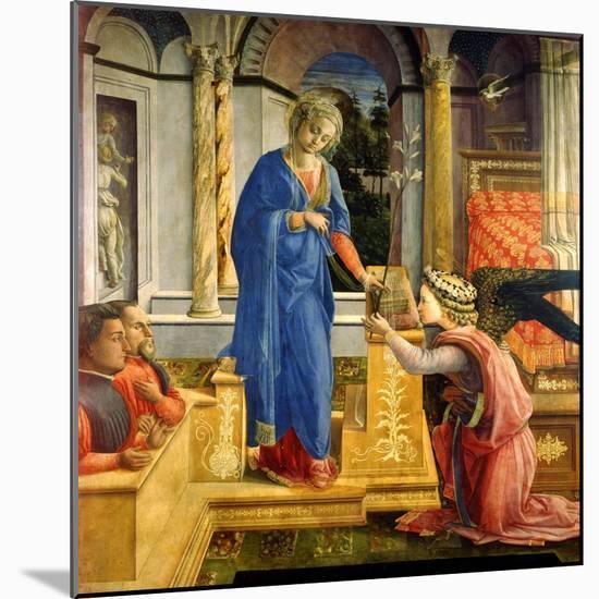 The Annunciation, Carafa Chapel, Santa Maria Sopra Minerva, Rome, 1488-93-Filippino Lippi-Mounted Giclee Print